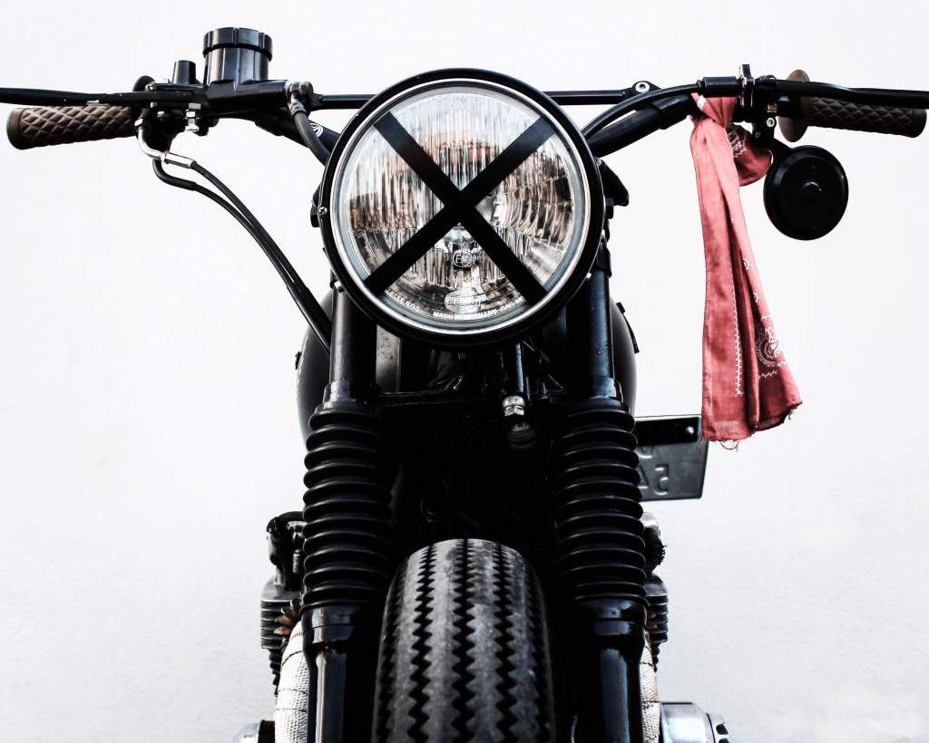 front av motorsykkel