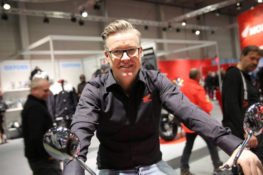 Anton Vestavik på Honda MC