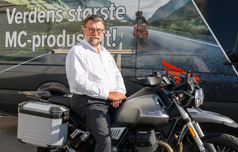 Per-Anton Vinje i Kellox på motorsykkel