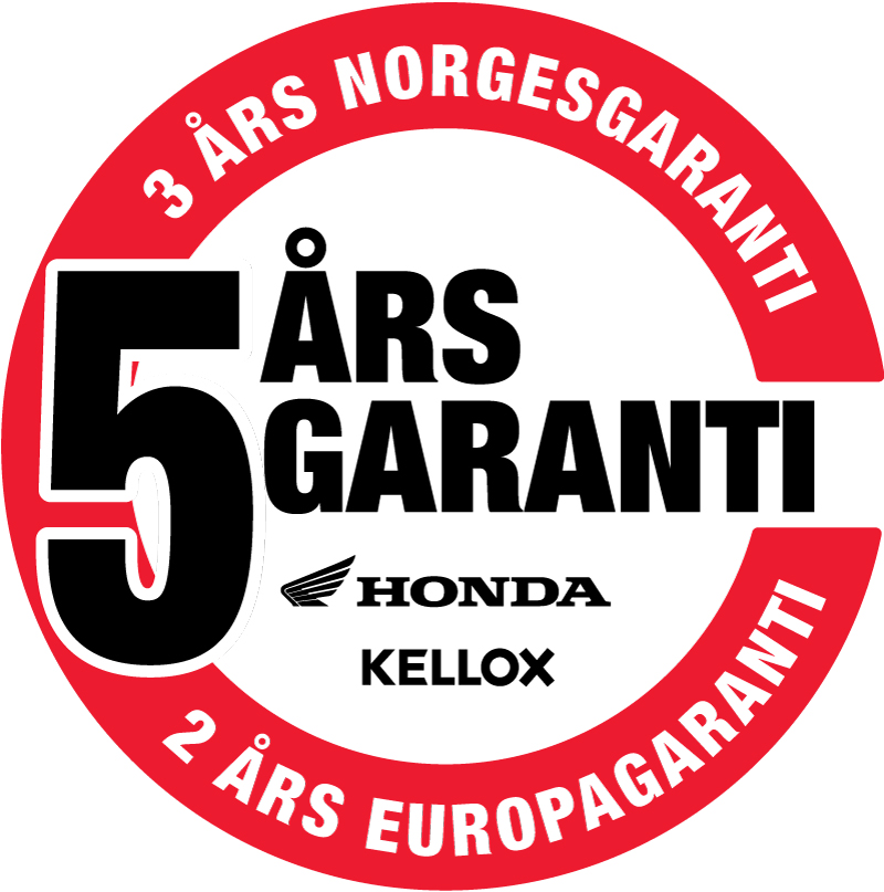 Honda MC og AS Kellox garantilogo