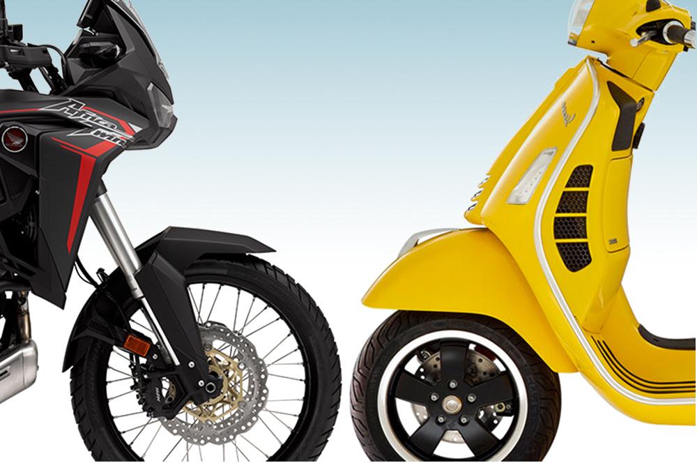 Vespa og Honda MC