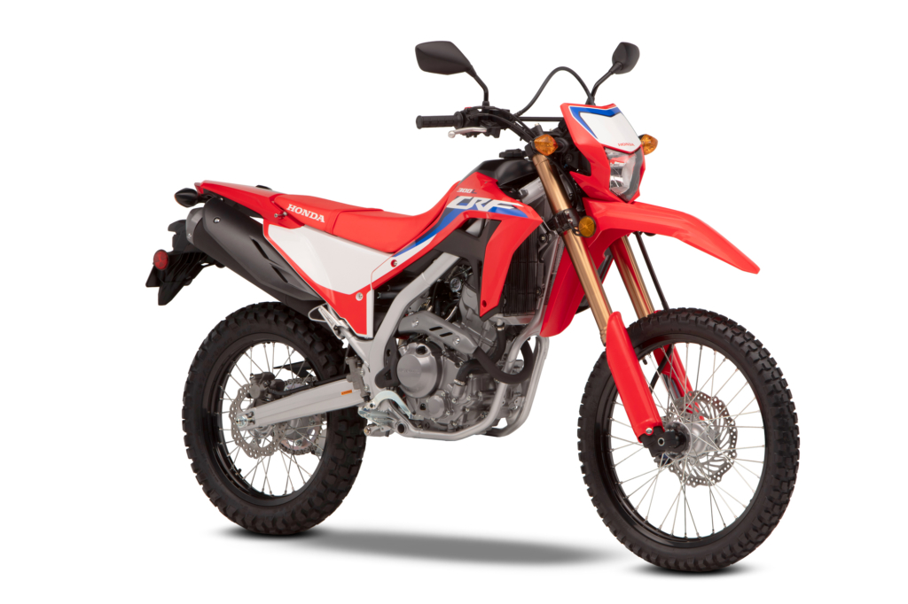 CRF300L EXTREME RED 2021 MODELL HONDA MC NORGE PRODUKTBILDE